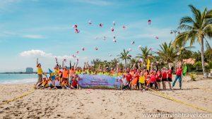 Teambuilding biển Ninh Chữ